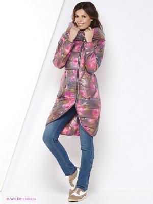 Пальто YUVITA. Цвет: фиолетовый
