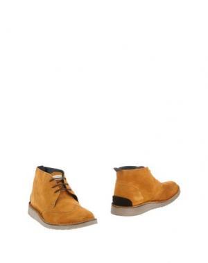 Полусапоги и высокие ботинки ANGELO NARDELLI. Цвет: желто-коричневый