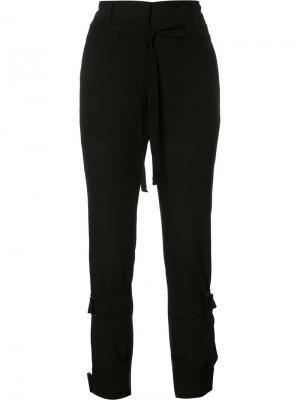 Прямые брюки Ann Demeulemeester. Цвет: чёрный