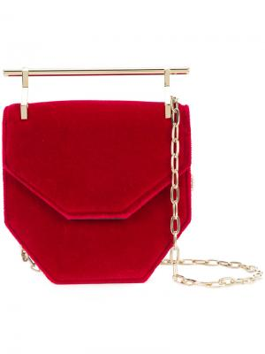 Top-bar geometric shoulder bag M2malletier. Цвет: красный