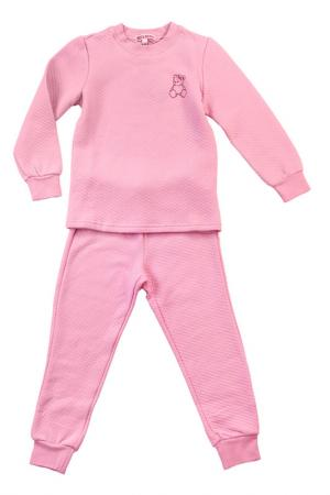 Пижама Bodi Bear. Цвет: розовый