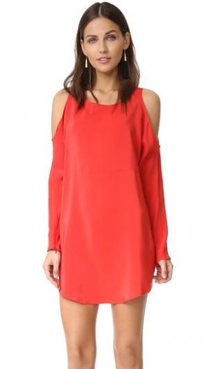 Платье-Powell Amanda Uprichard. Цвет: оранжево-красный