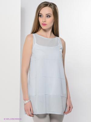 Блузка Colletto Bianco. Цвет: голубой