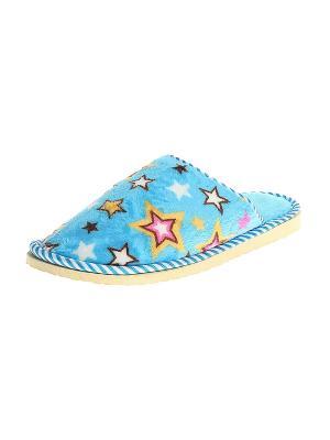 Тапочки домашние женские Migura. Цвет: голубой, розовый, желтый, белый, черный