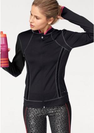 Спортивная куртка MELROSE. Цвет: черный/ярко-розовый/серебристый