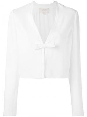 Укороченный пиджак с бантом Giambattista Valli. Цвет: белый
