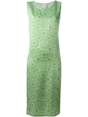 Платье с узором Sybilla. Цвет: зелёный