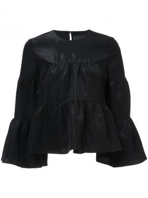 Блузка со сборками Co. Цвет: чёрный