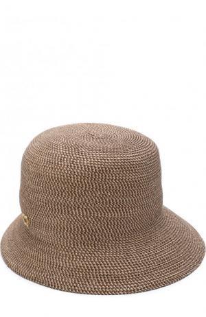 Шляпа Eric Javits. Цвет: светло-коричневый