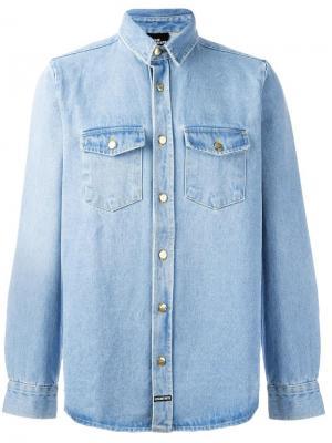 Джинсовая рубашка Fashion Killa Les (Art)Ists. Цвет: синий