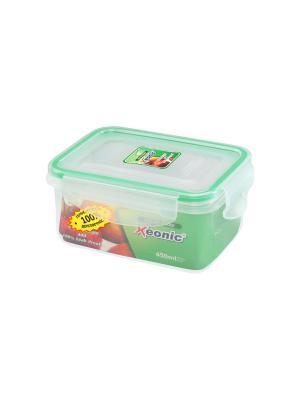 Контейнер герметичный 450 мл XEONIC CO LTD. Цвет: прозрачный, зеленый