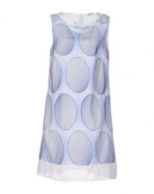 Короткое платье LA FABBRICA del LINO. Цвет: пастельно-синий