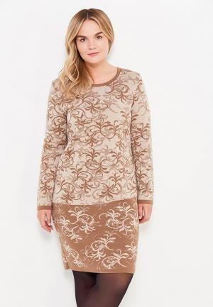 Платье Milana Style. Цвет: коричневый