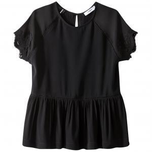 Блузка с круглым вырезом вырезом-каплей SUNCOO. Цвет: черный