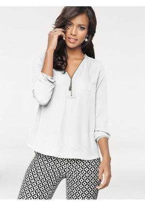 Блузка PATRIZIA DINI. Цвет: белый, черный