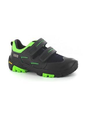 Ботинки Bartek. Цвет: черный, зеленый