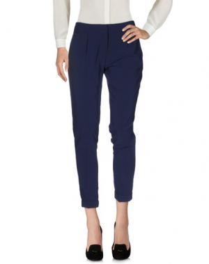 Повседневные брюки MANILA GRACE. Цвет: темно-синий