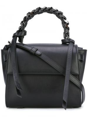 Маленькая сумка-тоут Angel Sensua Elena Ghisellini. Цвет: чёрный