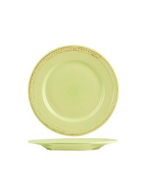 Набор тарелок обеденных АЛЕСИЯ H&H. Цвет: салатовый