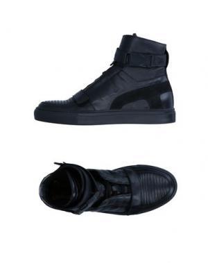 Высокие кеды и кроссовки YES LONDON. Цвет: черный