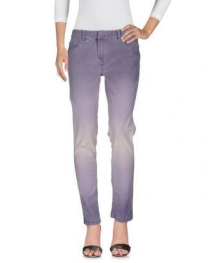 Джинсовые брюки ANGELO MARANI. Цвет: розовато-лиловый
