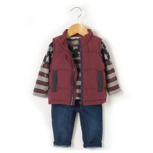 Комплект из футболки, жилета и джинсов R baby. Цвет: синий/ фиолетовый