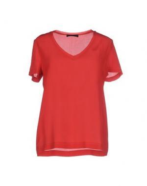 Блузка JO NO FUI. Цвет: красный