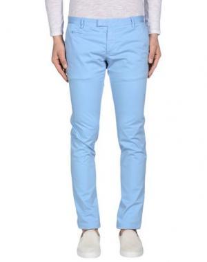Повседневные брюки DAVID NAMAN. Цвет: небесно-голубой