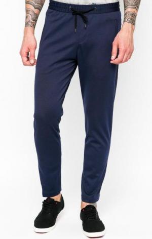 Синие брюки на резинке Cinque. Цвет: синий