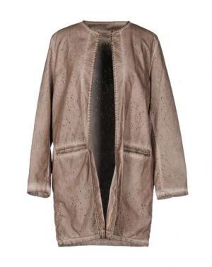 Легкое пальто JIJIL. Цвет: голубиный серый