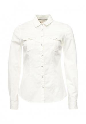 Рубашка джинсовая Springfield. Цвет: белый