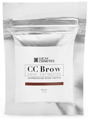 Хна для окрашивания ресниц и бровей в саше (коричневая) 10 гр CC Brow. Цвет: коричневый