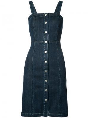 Джинсовое платье Ag Jeans. Цвет: синий