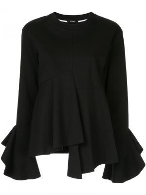 Asymmetric hem sweatshirt Goen.J. Цвет: чёрный