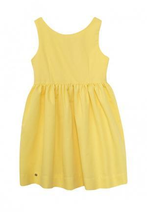 Платье Button Blue. Цвет: желтый