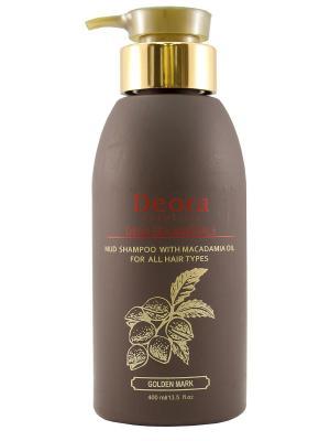 Шампунь грязевой с маслом макадамии для всех типов волос, 400 мл. Deora Cosmetics. Цвет: бежевый