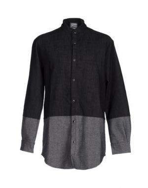 Джинсовая рубашка C.Y.H. CLAP YOUR HAND. Цвет: черный
