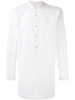 Рубашка с нагрудным карманом Oliver Spencer. Цвет: белый