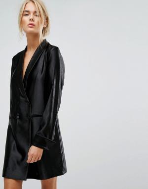 Gestuz Длинное платье-блейзер. Цвет: черный