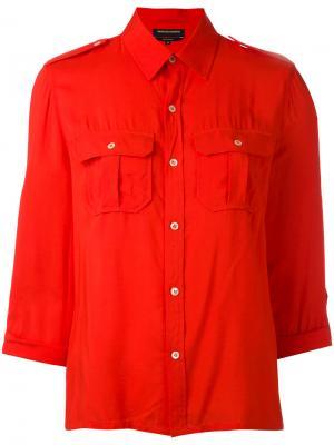 Рубашка в стиле милитари Vanessa Seward. Цвет: красный