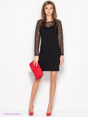 Платье IMAGINI. Цвет: черный