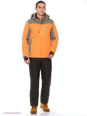 Куртка High Experience. Цвет: оранжевый, серый
