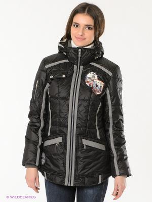 Куртка WEGA. Цвет: черный, серый