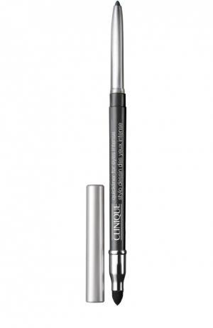 Автоматический карандаш для глаз с растушевкой, оттенок Intense Ebony Clinique. Цвет: бесцветный