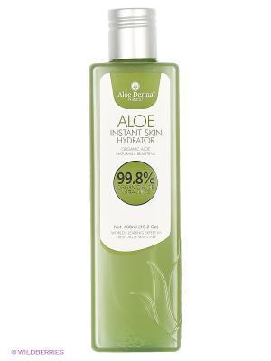 Лосьон увлажняющий для кожи Aloe Derma. Цвет: хаки