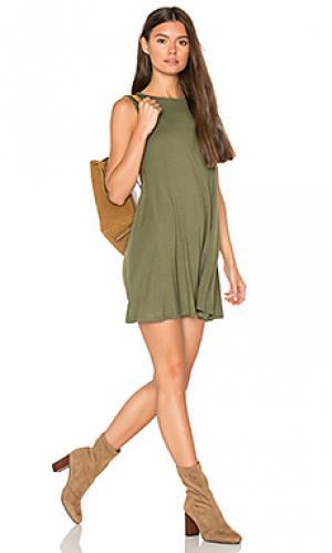 Платье с юбкой-солнце BLQ BASIQ. Цвет: зеленый