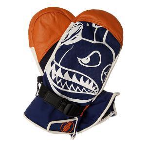 Варежки сноубордические  Promodel Mitt Vito Orange Grenade. Цвет: синий,оранжевый,белый