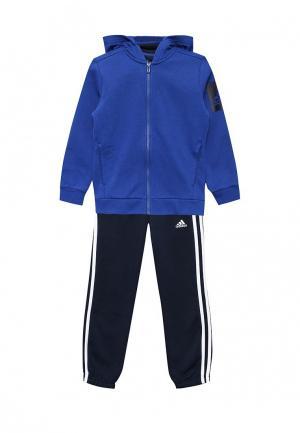 Костюм спортивный adidas Performance. Цвет: синий