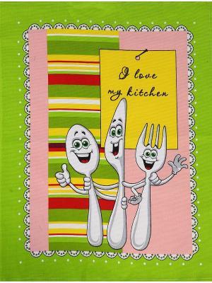 Полотенца кухонные AMO LA VITA. Цвет: желтый, зеленый, красный