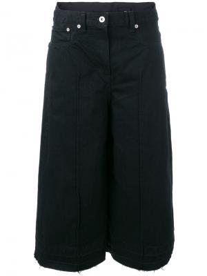 Джинсовые брюки-юбка Sacai. Цвет: чёрный